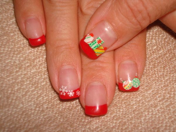 Ongles noel rouge for Decoration ongle noel